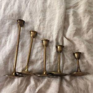 Set of Brass Candlesticks